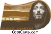 Vector Clip Art graphic  of a Jesus Christ