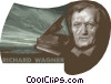 Richard Wagner, Composer Vector Clipart image
