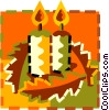 Vector Clip Art graphic  of a Christmas candles