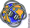World wrapped up in wires Vector Clipart image