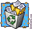 recycle box Vector Clipart graphic