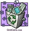 recycle box Vector Clipart illustration