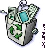 Vector Clip Art image  of a Recycle box