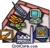 Vector Clipart picture  of a financial images
