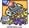 Vector Clip Art picture  of a paper shredder