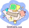 Vector Clipart graphic  of a personal computer