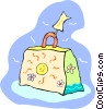 vacation luggage Vector Clipart graphic