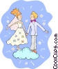 Vector Clip Art graphic  of a wedding