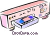 Vector Clipart image  of a VCR with video tape