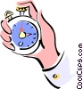Vector Clip Art graphic  of a stopwatch