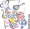 Vector Clipart illustration  of a cooking