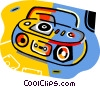 ghetto blasters Vector Clip Art picture