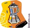 coffee pots Vector Clipart graphic