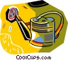Vector Clipart illustration  of a watering can