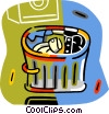 trash can Vector Clipart graphic