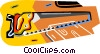 Vector Clip Art graphic  of a wood saw