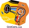 Vector Clipart image  of a hair dryer