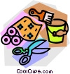 Vector Clipart picture  of a renovating supplies