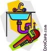 Vector Clipart graphic  of a plumbing