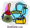 Vector Clip Art picture  of a plumbing equipment