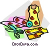 Vector Clipart illustration  of a materials