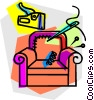 Vector Clipart graphic  of a re upholster