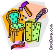 Vector Clip Art graphic  of a re upholster