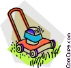 lawn mower Vector Clipart illustration