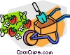 Vector Clipart illustration  of a wheelbarrow
