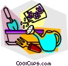 Vector Clipart picture  of a gardening tools