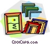 Vector Clipart image  of a picture frames