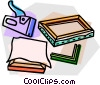 Vector Clipart graphic  of a picture frame supplies