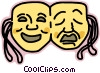 Vector Clip Art image  of a drama faces
