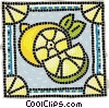 Sliced lemon Vector Clip Art graphic