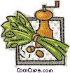 Vector Clip Art graphic  of a grinders