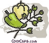 green peppers Vector Clipart graphic