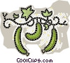 Vector Clipart illustration  of a green peppers