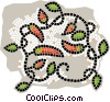 hot peppers Vector Clip Art image