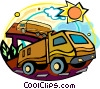 Vector Clip Art graphic  of a trucks