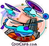 Vector Clipart picture  of a helicopters