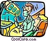 Vector Clip Art picture  of a Dentists office