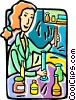 scientist Vector Clip Art graphic
