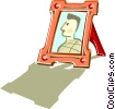 picture frame Vector Clipart illustration
