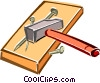 hammer and nails Vector Clipart picture