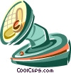 Vector Clipart illustration  of a electric fans