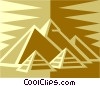 Vector Clip Art graphic  of a Egyptian pyramids