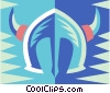 Viking helmet Vector Clipart illustration