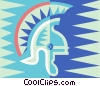 Vector Clip Art picture  of a gladiator helmets