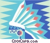 Indian head dress Vector Clip Art image