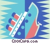 sinking ship Vector Clipart illustration
